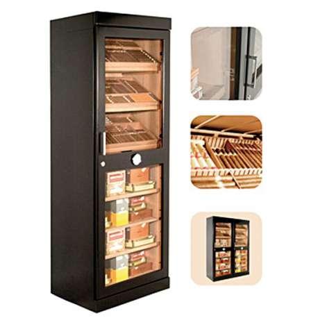 Armoire à Cigares Roma noire ou acajou - Adorini