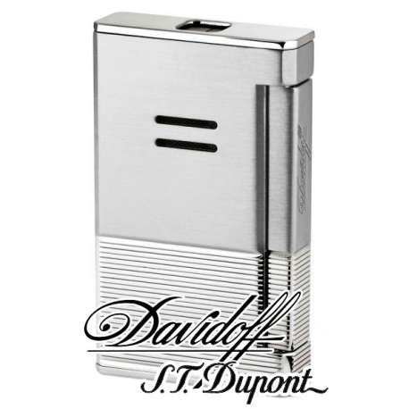 Briquet prestige Davidoff acier brossé palladium