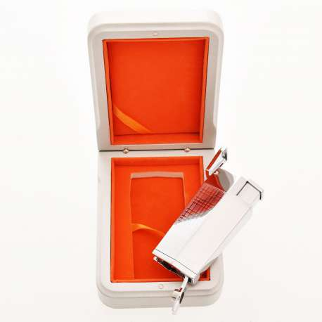 Briquet triple jet Chrome avec perce cigare