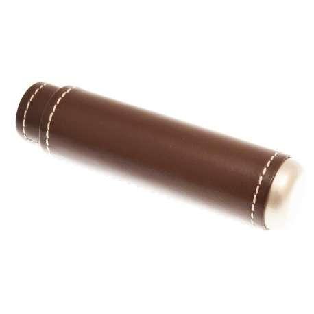 Etui 1 cigare cuir marron et métal