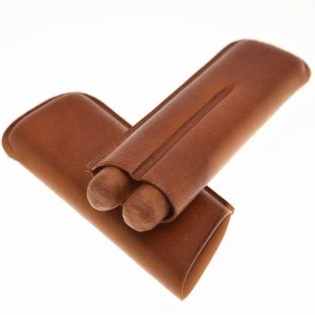 Eui 2 cigares en cuir marron