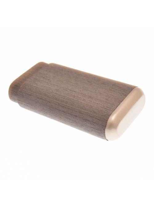 Etui 3 cigares gris en bois