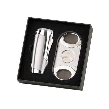 Coffret briquet + coupe cigare