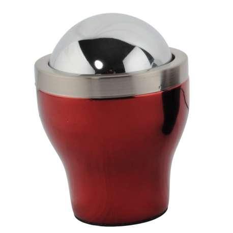 Cendrier design métallisé rouge