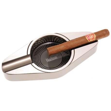 Cendrier Déco 2 cigares gun et gris