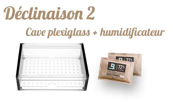 cave à cigares plexiglass + boveda